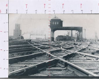 Chicago Twenty First Street crossing United States  Printed photograph ZAS133