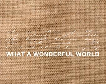 wonderful world svg