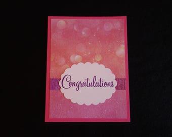Congratulations Pink Scallop