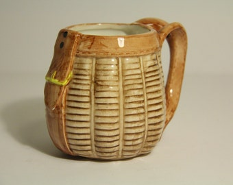 Vintage Hand painted bag Mug