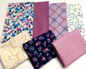Purples and Plums Half Yard Fabric Bundle