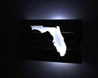 Backlit Florida Pallet Cut Out