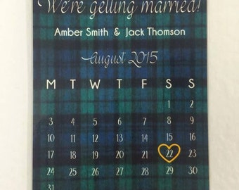 Magnet save the date wedding invitation stationery