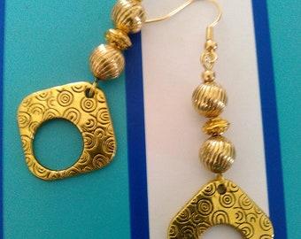 Lovely gold dangle earrings
