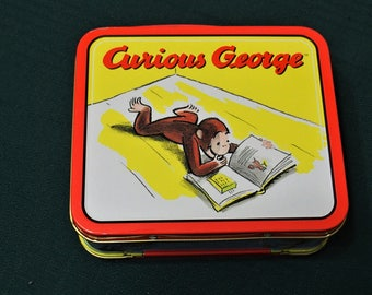 Mini Metal Tin Lunch Boxes Curious George