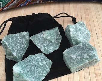 Green adventurine  raw brilliant chunks crystals