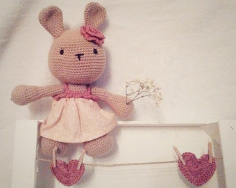 Crochet original Teddy's Bunny ideal to give to babies, is possible customize the doll