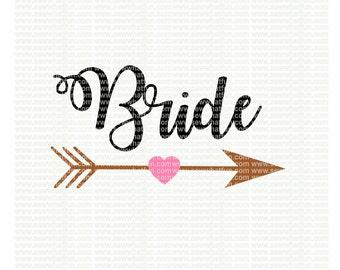 Bride  SVG, cutting file, vinyl file, svg, bride, svg file, cameo file, cricut, bridesmaid, wedding, bride svg, bridal svg, wedding, bridal