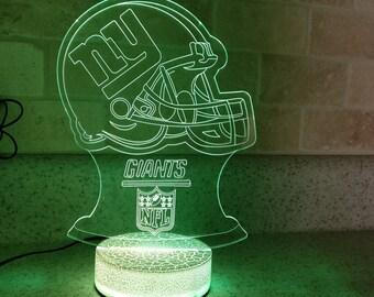 New York Giants 3D Night Lamp, 3D Night Light Children Light Home Decor Illusion Romantic light