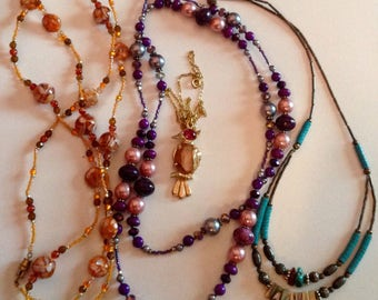Wearable Costume Necklace Lot - Vintage to Modern