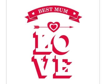Mothers Day Card - Best Mum LOVE