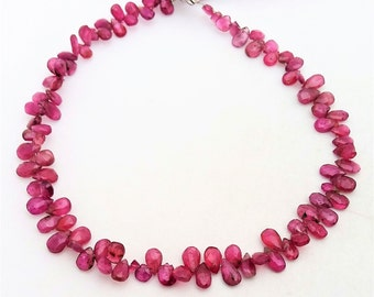 """Natural Pink TOURMALINE faceted pear shaped beads ,3x5 mm -- 4x6 mm ,9""""strand[E0299] very good quality"""