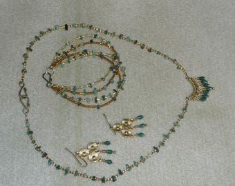 Genuine Emerald chips and crystals