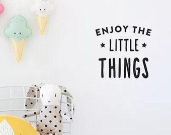 Enjoy the Little Things Nursery Vinyl Wall Decal - home decorative wall sticker