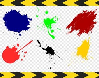 Paint splatter SVG Cut files for Cricut Silhouette SVG bundle Splash Clip art Clipart Dxf Pdf Png