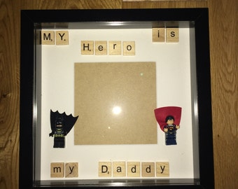 My hero is my daddy frame