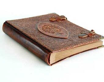 Tree of Life-Leather handmade photo album