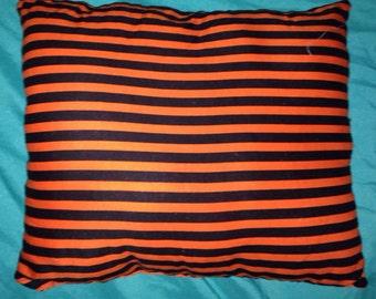 Black and orange pillow