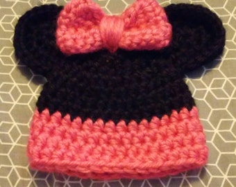Minni Mouse Hat - Newborn