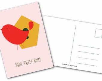 Greeting card ' Home tweet home '