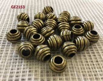 Assorted style of Antique brass beads 30 pieces