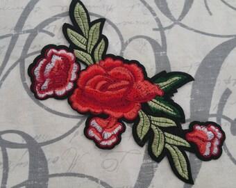 Flower iron patch applique #7C1217