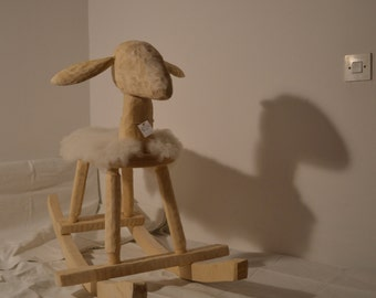 White wooden sheep