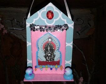 Matchbox Shrine Ganesh Hanging Ganesha Enchanted Reliquary
