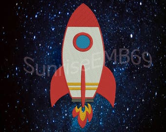 5 Sizes**Rocket Embroidery design- 7 formats machine embroidery design - Instant Download machine embroidery pattern