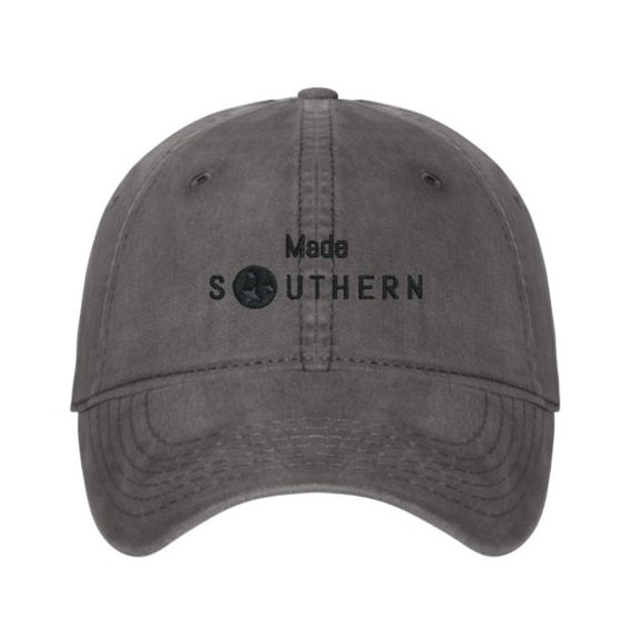 Capitol Company 'Made Southern' Unstructured Baseball Cap//Nashville Southern Activewear- Green, Grey, or Red