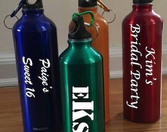 Personalized Aluminum Water Bottles