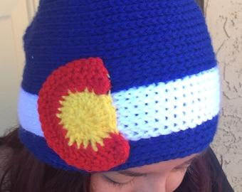 Crochet Royal Blue Colorado Beanie