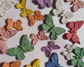 Butterfly Seed Bombs 8, 16, or 24 Organic GMO Free Wild Flower Seed Bombs, 3D Plantable Seed Paper