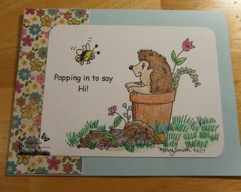 Harvey Hedgehog & Bradford Bee Digi - digital image