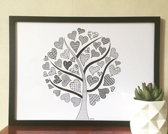 Zentangle love tree