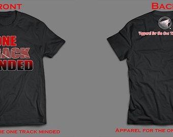 "Track Headz™ Black ""One Track Minded"" Basic Tee and Wristband Combo Pack"