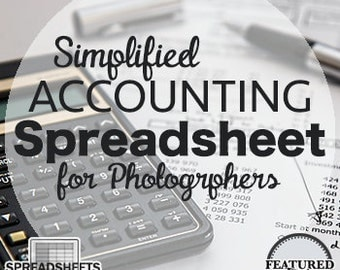 Simplified Accounting Spreadsheets for Photographers - INSTANT DOWNLOAD