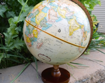 """Vintage Replogle 12"""" World Classic Series Globe, Made in the USA"""
