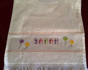 Cross Stitch Baby Bib
