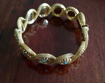 Gorgeous golden bracelet with anthracite coloured stones