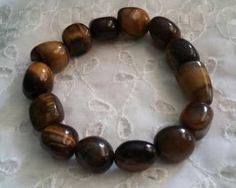 Tigers Eye vintage gemstone bracelet