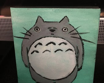 Acrylic Painting of Totoro