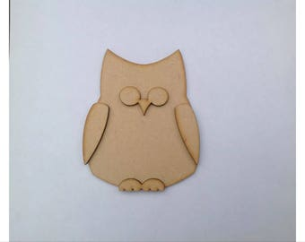 Wooden Craft Shapes 10 x Owls