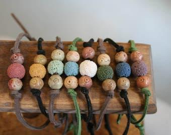 Diffuser Suede Bracelet, Essential Oil Bracelet, Aromatherapy Bracelet, Lava Stone Bracelet, Suede Adjustable Bracelet, Aromatherapy Jewelry