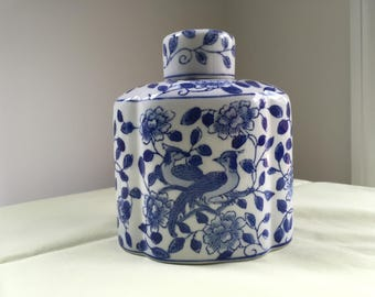 Andrea by Sadek Hand-Painted Jar with Lid