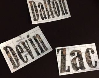 Personalized Camo Name Decal