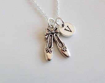 Ballet necklace, Ballet shoes neckalce, Ballerina necklace, Ballet dance Ballet slippers Ballet dancer gift, Best friend gift