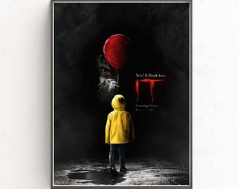Stephen King's IT You'll float too movie wallpaper decoration photo poster