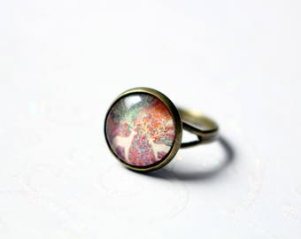 Adjustable ring antique bronze colored 12mm