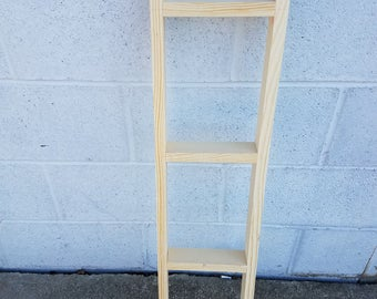 """Wood Unfinished 24"""" Ladder We make any size Ready to paint or decorate"""